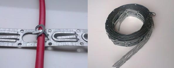 Монтажная лента и способ фиксации в ней кабеля.