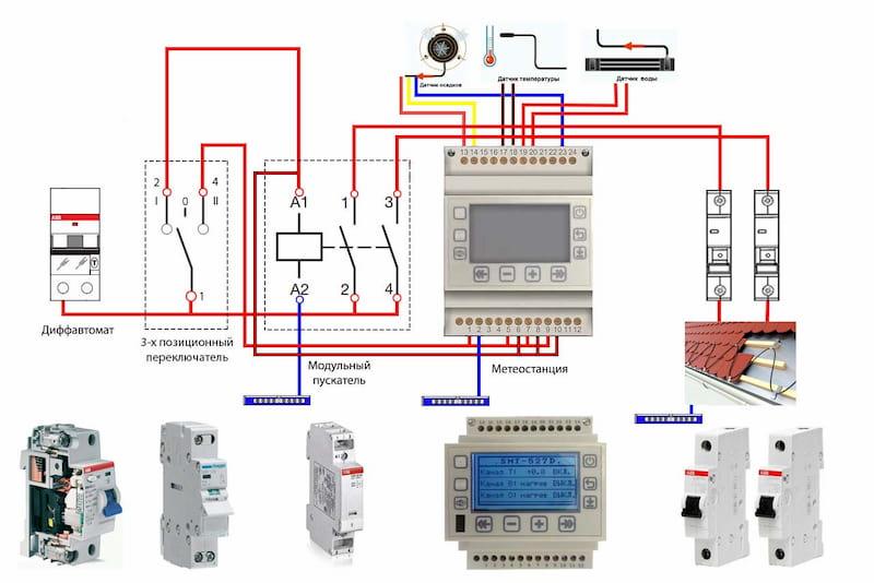 Схема подключения аппаратуры.