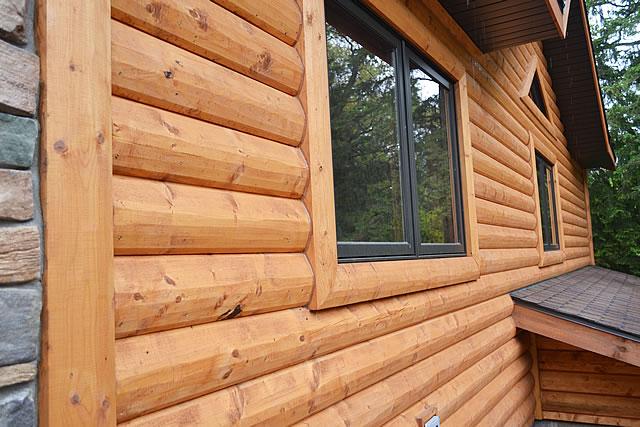деревянный сайдинг вида блок-хаус фото №3