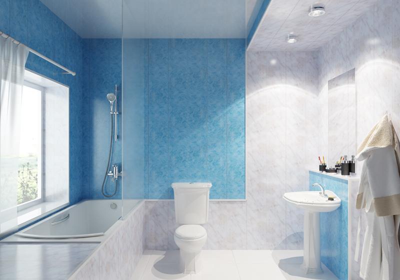 ванная облицованная панелями ПВХ фото №4