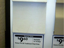 Фотоотчет о ценах на американо-канадский сайдинг